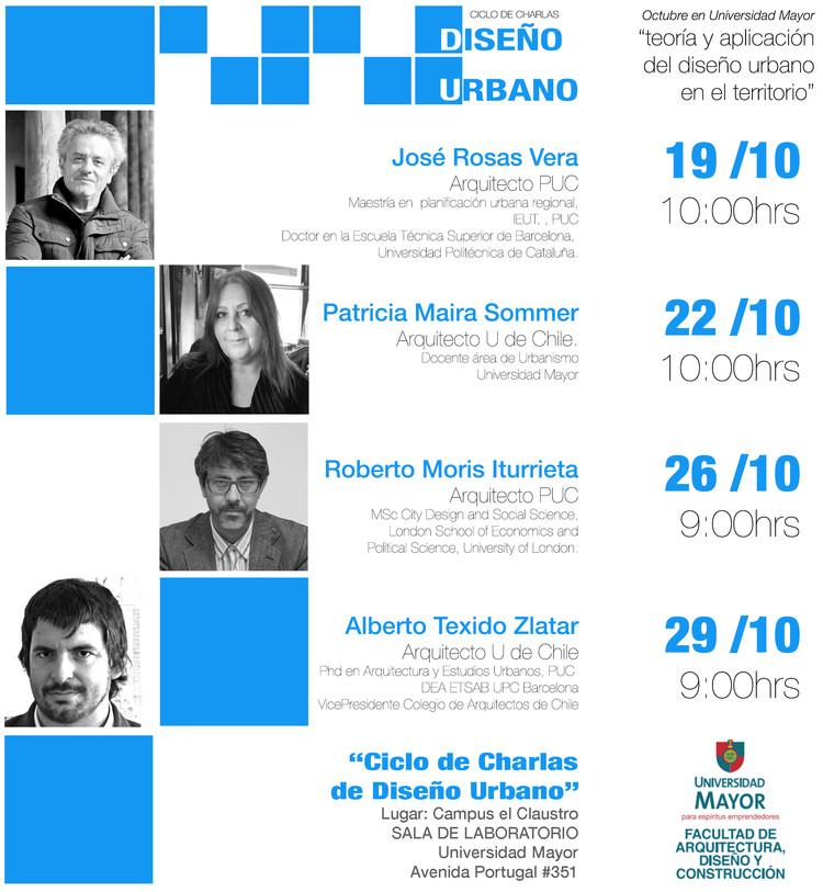 """ciclo de charlas de Diseño Urbano """"Teoría y Aplicación del Diseño Urbano en el Territorio"""""""