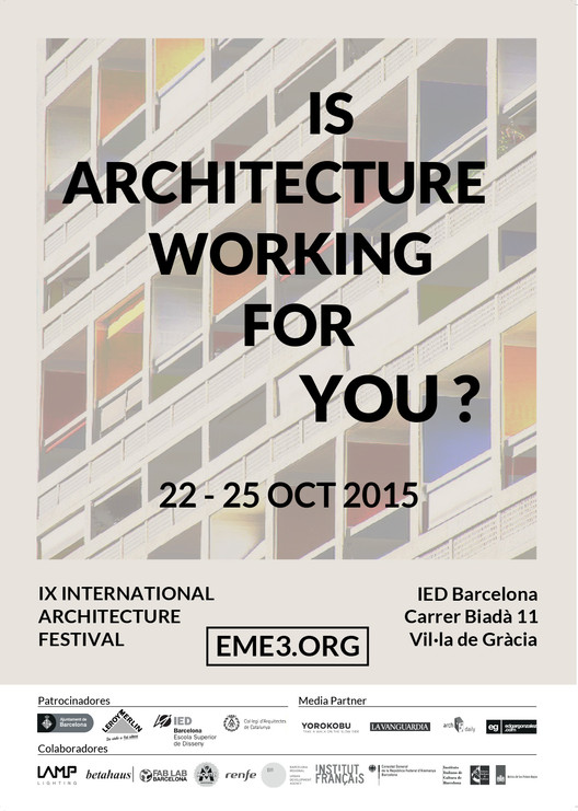 Eme3_2015: International Architecture Festival