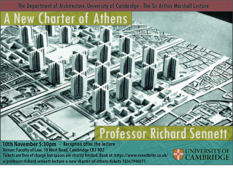'A New Charter of Athens': a lecture by Professor Richard Sennett