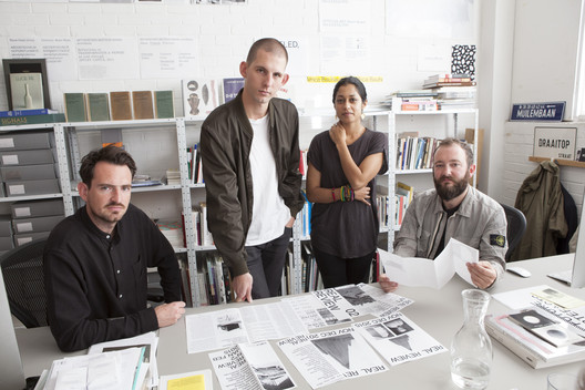 Editors Jack Self and Shumi Bose, and designers Oliver Knight and Rory McGrath (OK-RM). Image © REAL