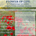 """Flower of Life"" International Student Competition for Garden Design Poster: 'Flower of Life' International Student Competition for Garden Design"
