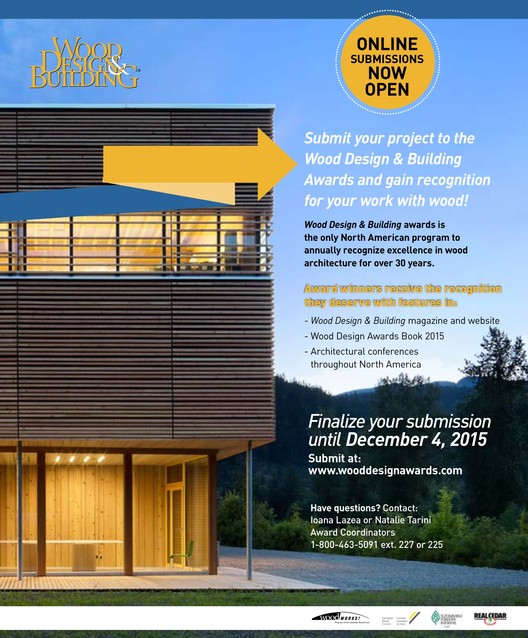 Call for Submissions: Wood Design & Buidling Awards