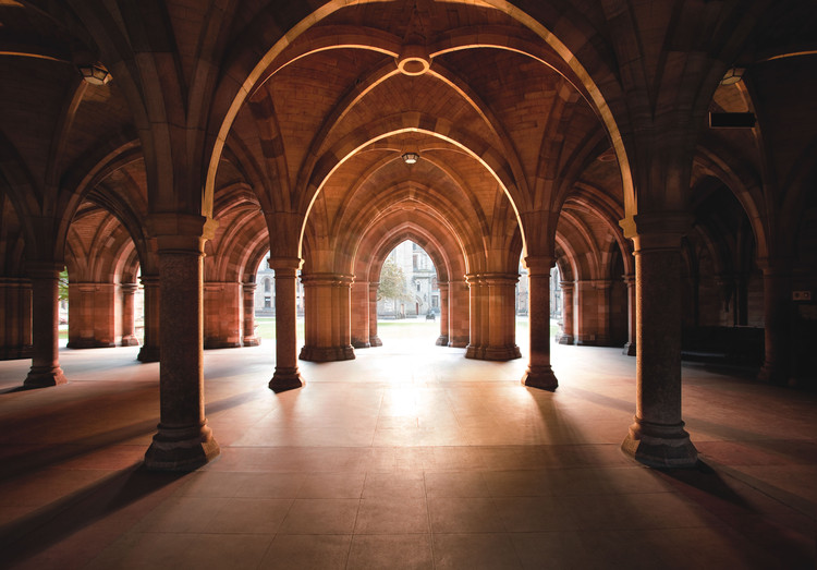 Cloisters at University of Glasgow (courtesy of People Make Glasgow)