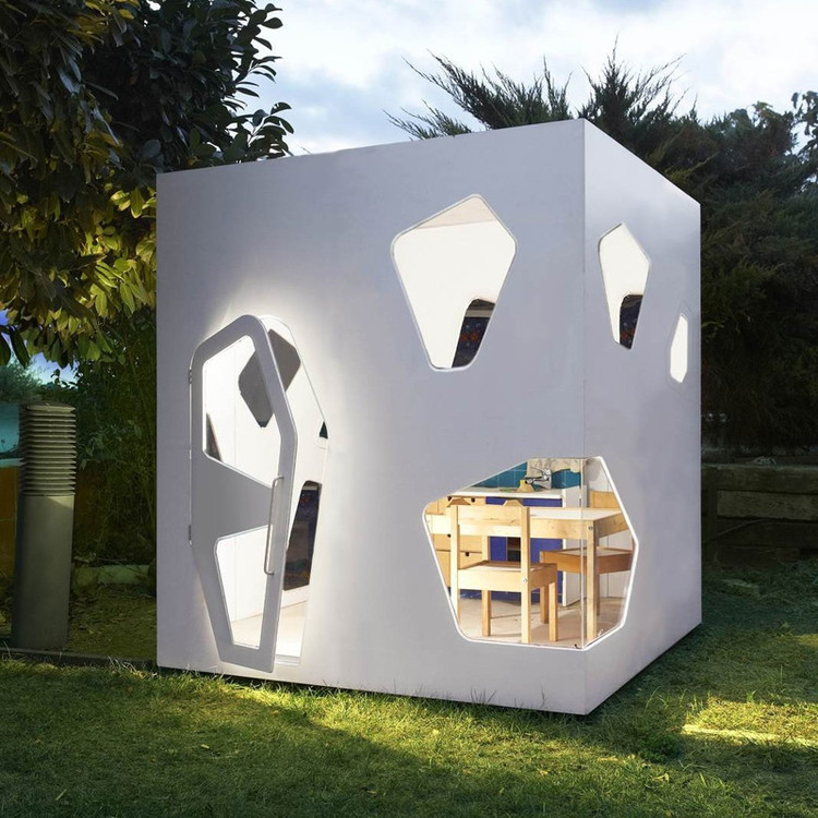These Children's Playhouses Mimic Contemporary Japanese Architecture, via Etsy © SmartPlayhouse