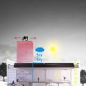 Corte perspectivado. Image © Gabriela Fernandes, Gustavo Pessini, Thaís Ferreira e Uilian Marconato