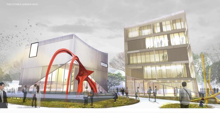 SMF Arquitectos propone un nuevo centro de arte y amplios espacios públicos para el centro de Seúl, Cortesía de SMF Arquitectos
