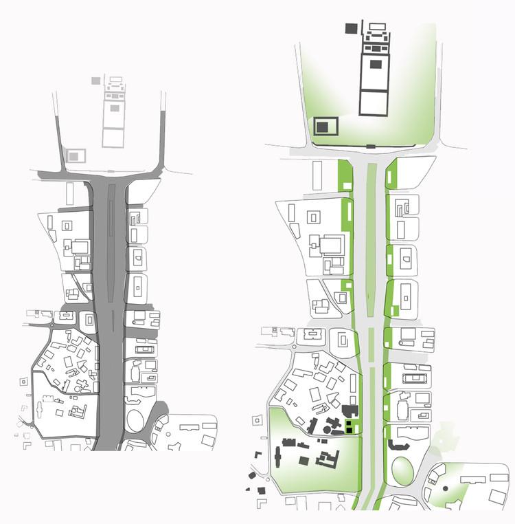 Esquema urbano. Image Cortesía de SMF Arquitectos