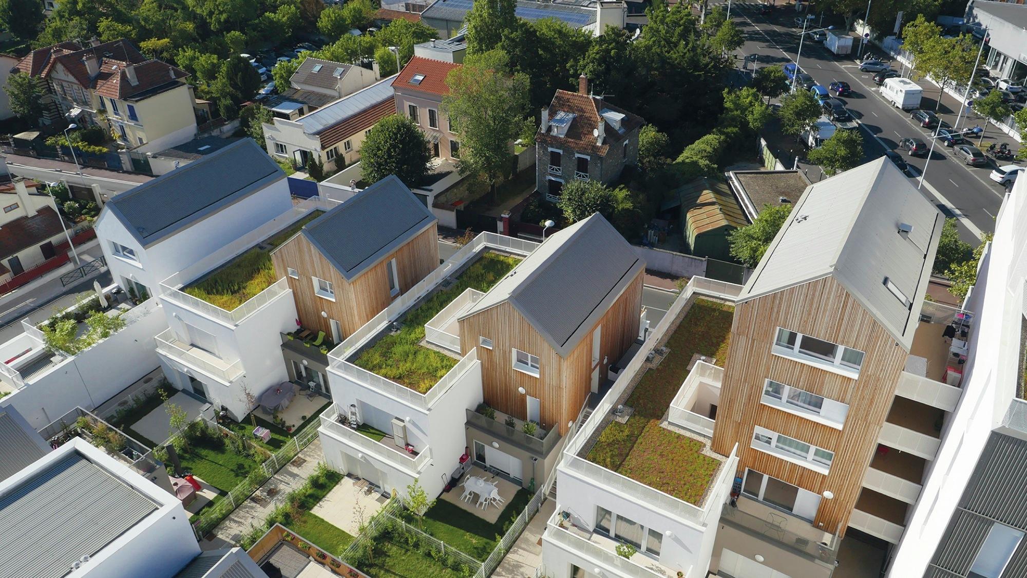 157 housing units in nanterre atelier du pont archdaily - Atelier arquitectura ...