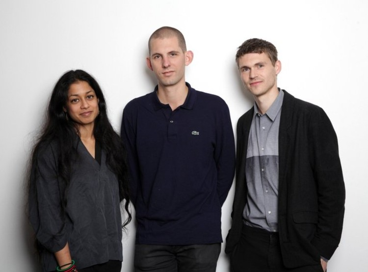 Curatorial Team Selected for British Pavilion at 2016 Venice Biennale, 2016 Curatorial Team, British Pavilion, Venice Architecture Biennale (L-R) Shumi Bose, Jack Self, Finn Williams. Image © British Council