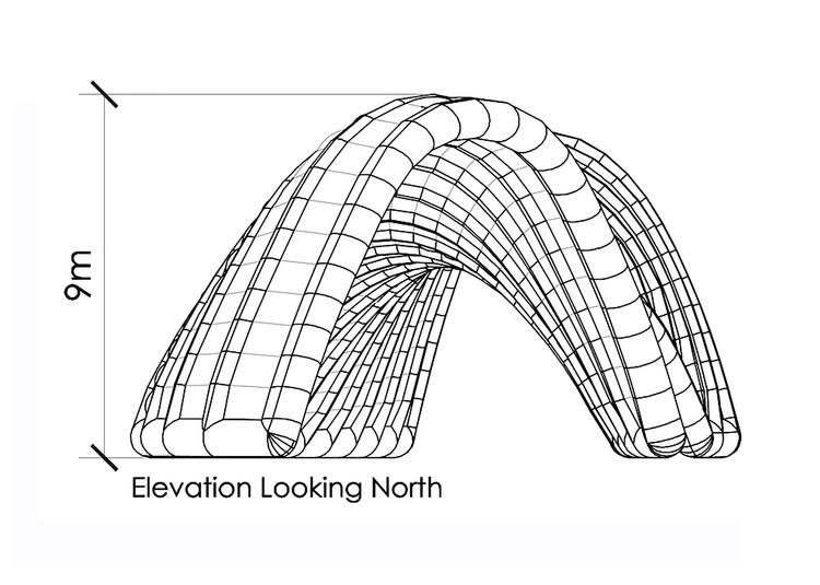 Elevación norte (pabellón sur)