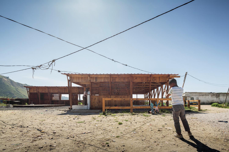 Cozinha comunitária Terras da Costa (Caparica) Ateliermob e  #40668B 1500 1000