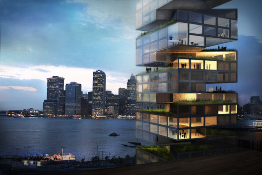 Garden Spiral Tower on the Harbor. Image Courtesy of O'Neill McVoy Architects