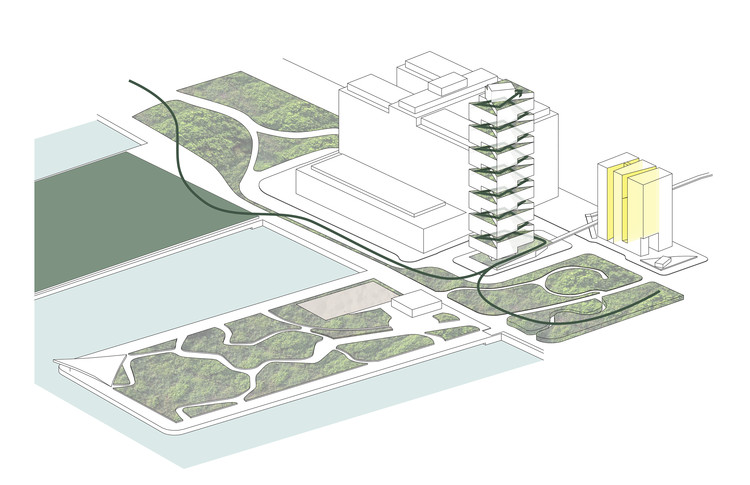 Concept Diagram. Image Courtesy of O'Neill McVoy Architects
