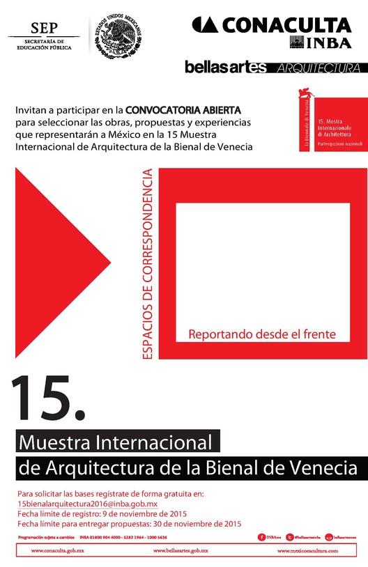 Convocatoria abierta para ser parte de 15. Muestra Internacional de Arquitectura 'Bienal de Venecia 2016'