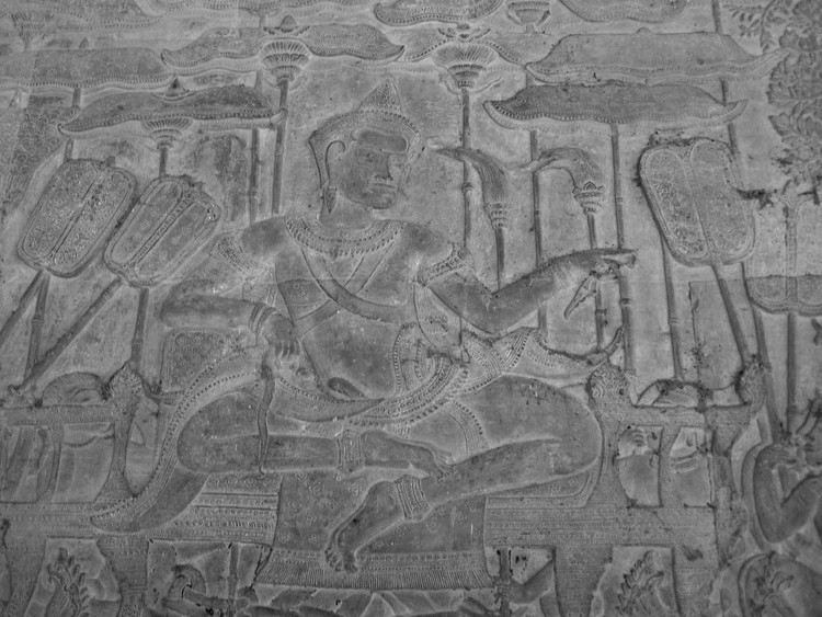 Bas-relief of Suryavarman II. Image © flickr user: soham_pablo, licensed under CC BY 2.0