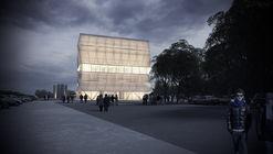 Comienza construcción del Teatro Regional del Biobío, diseñado por Smiljan Radic