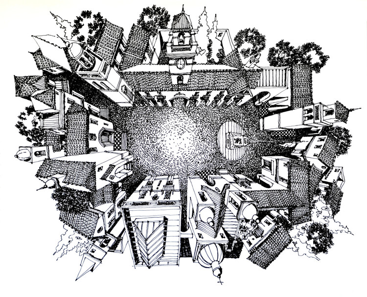 Plaza Mayor Vieja Aldea. Image Cortesía de Juan Luis López