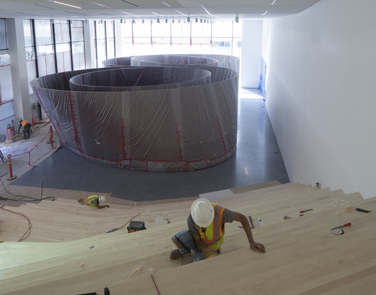 Roberts Family Gallery under construction, featuring   Richard Serra's Sequence (2006). Image © Henrik Kam, courtesy of SFMOMA.