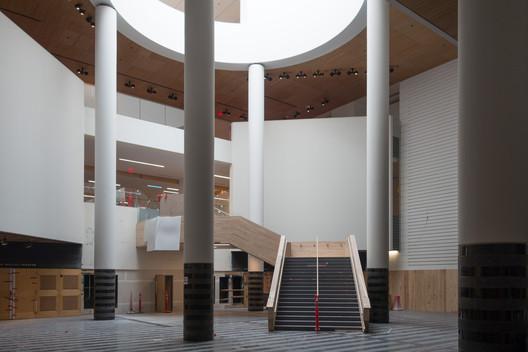 Atrium under construction. Image © Henrik Kam, courtesy of SFMOMA.