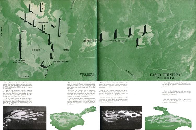 Plan General, Ciudad Universitaria de Tucumán, en Revista Nuestra Arquitectura nº 254 (Sept. 1950). Cortesía de Horacio Torrent