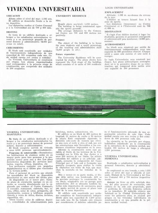 Vivienda Universitária, Ciudad Universitaria de Tucumán, en Revista Nuestra Arquitectura nº 254 (Sept. 1950). Cortesía de Horacio Torrent