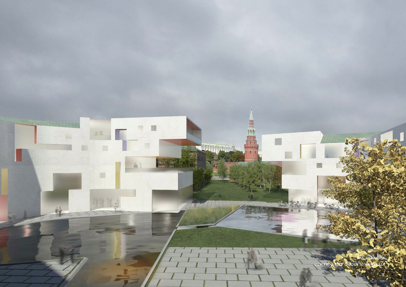 Sergey Skuratov Wins Competition for Multi Use Project on Moscow River Bank,© SHA
