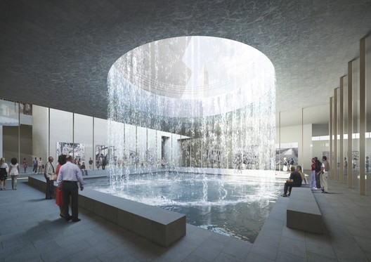 Proposed interior of Smithsonian National Museum of African American History and Culture. Image © Adjaye Associates