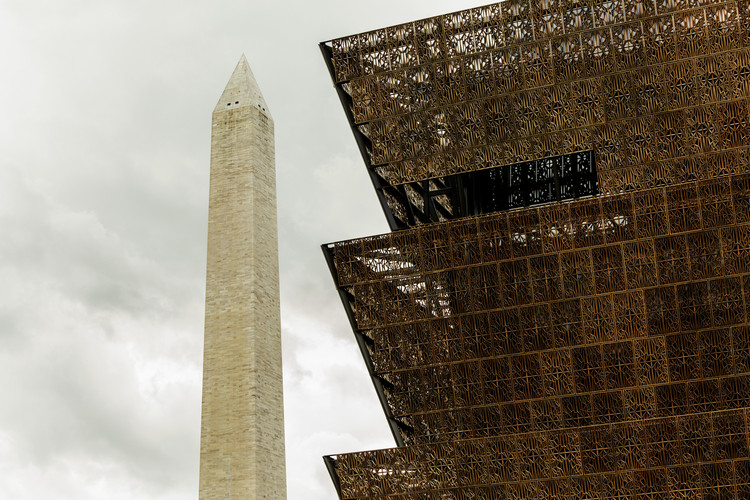The Smithsonian National Museum of African American History and Culture, currently under construction. Image © Nathan Perkel for Surface Magazine