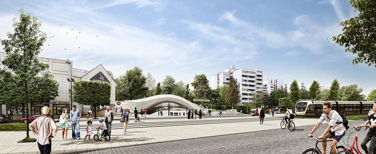 Atelier King Kong presenta diseño de nueva estación del Metro de París, © atelier d'architecture KingKong