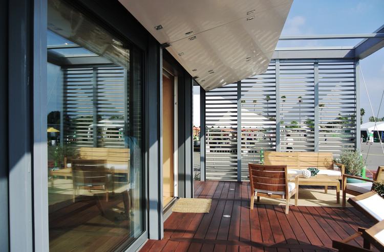 """Terraza de """"Sure House"""", el proyecto de la Universidad Stevens. Image © Addi Gutiérrez"""