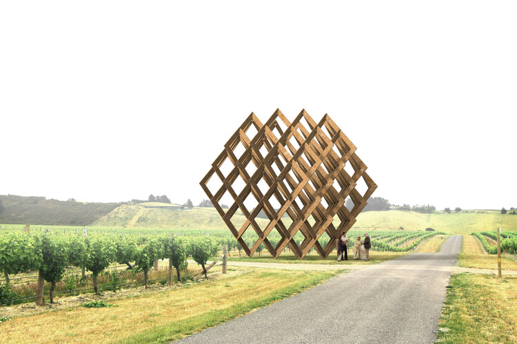 Studio Dror Designs Steel Sculpture for New Zealand Winery, © Studio Dror