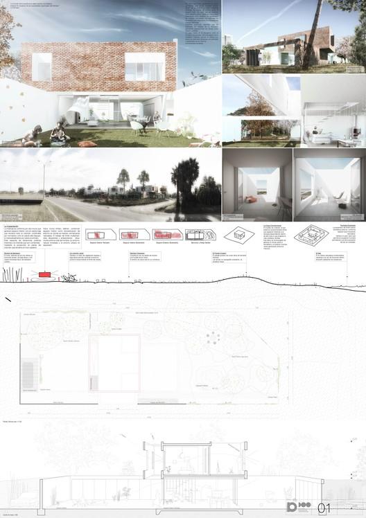 Lámina #01. Image Cortesía de Mateo Vidal y Facundo Pío