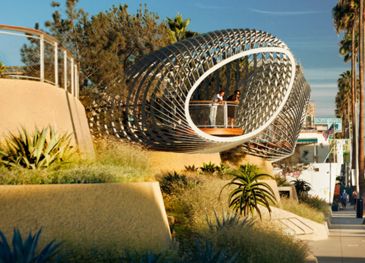 Field Operations to Design National Building Museum's Next Summer Installation, Tongva Park overlook. Image © Tim Street Porter, courtesy of Field Operations