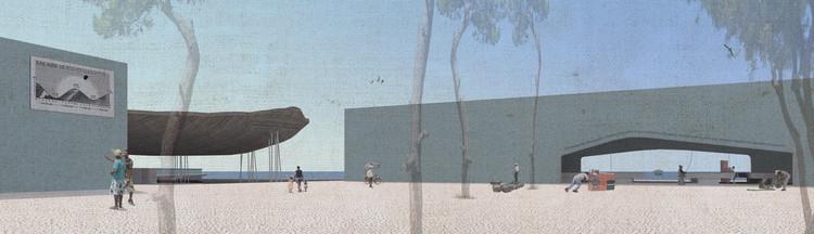 Plaza de acceso. Image Cortesía de La Fábrica + Ghezzi Novak