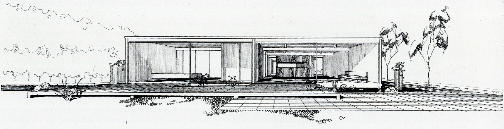 Gallery of a virtual look into pierre koenig 39 s case study house 21 the bailey house 1 - Case study small apartment ...