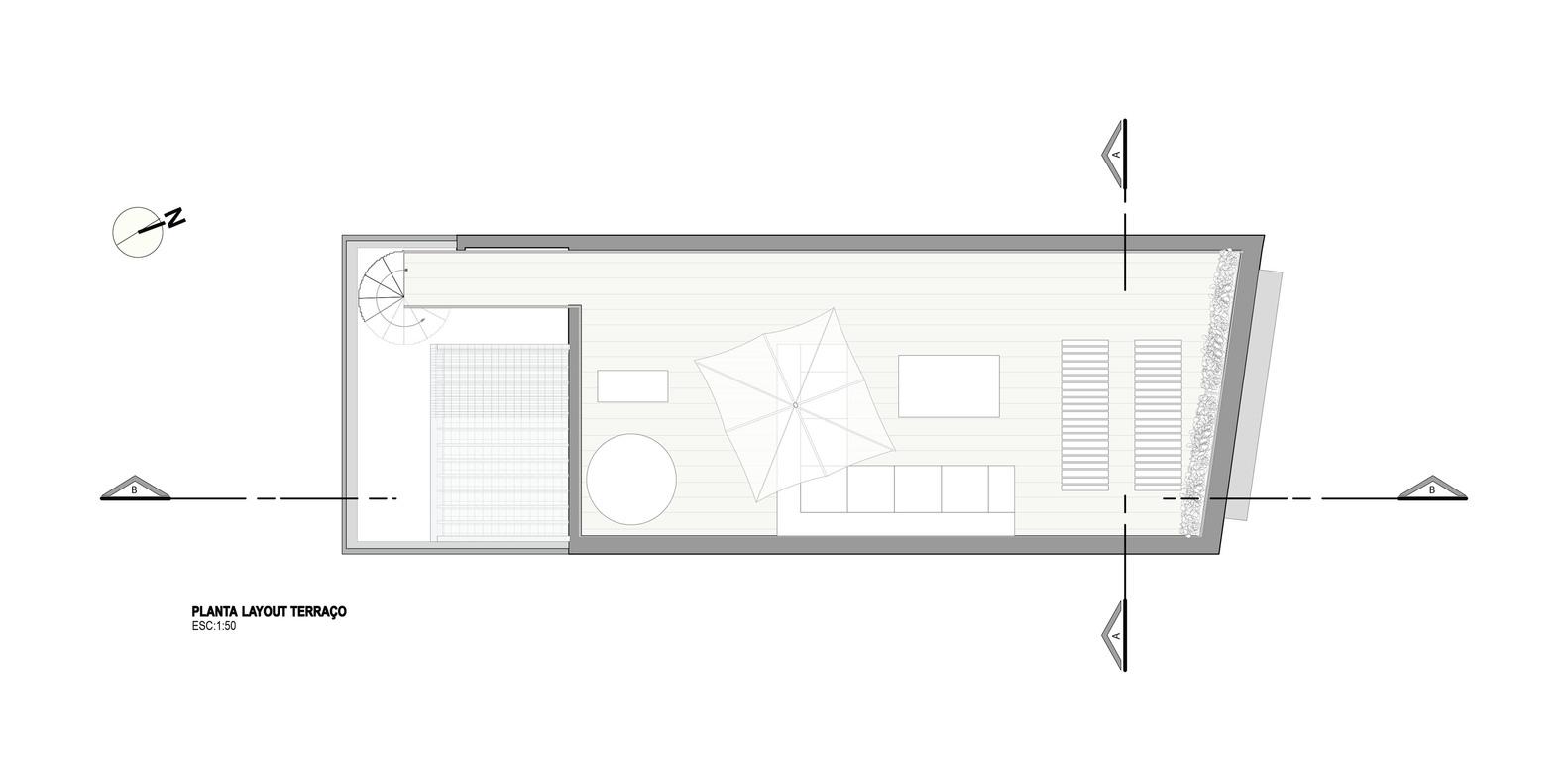 CA House,Floor Plan