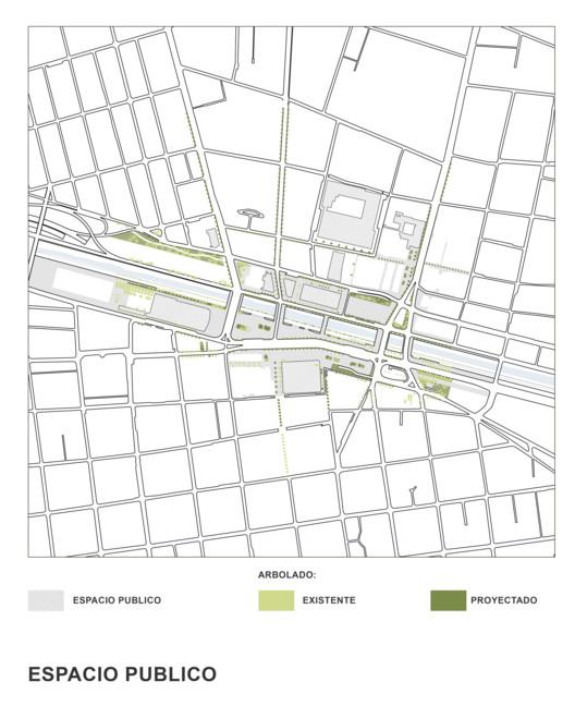 Espacio público propuesto. Image Cortesía de SHIFT Arquitectos y Asociados