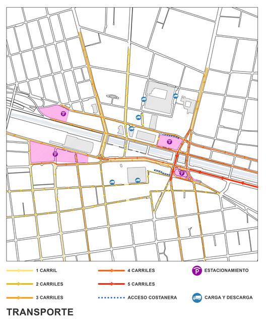 Movilidad propuesta. Image Cortesía de SHIFT Arquitectos y Asociados