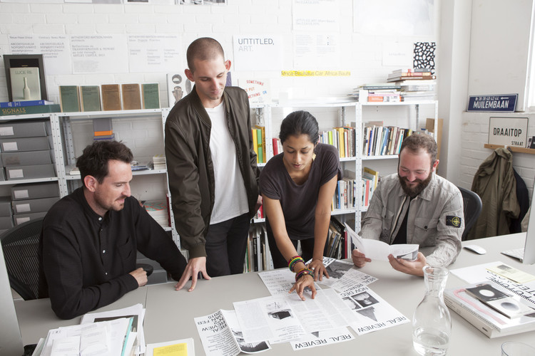 In Conversation With Jack Self and Shumi Bose, Editors of the 'Real Review', Editors Jack Self and Shumi Bose, and designers Oliver Knight and Rory McGrath (OK-RM). Image © REAL