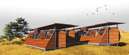 Terceiro Lugar. Image Cortesia de  IX Bienal José Miguel Aroztegui