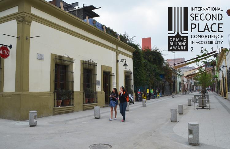 Segundo lugar - Congruencia en Accesibilidad. Calle Morelos. Imagen Cortesía de CEMEX.