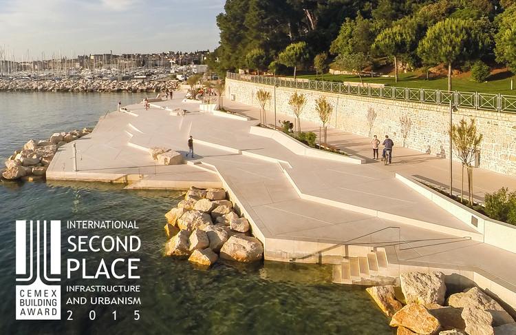 Segundo lugar - Infraestructura y Urbanismo. Playa Mulini / Studio 3LHD. Imagen Cortesía de CEMEX.