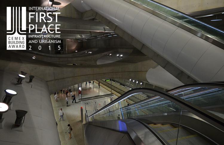 Primer lugar - Infraestructura y Urbanismo. Metro 4 Budapest / Palatium Stúdió. Imagen Cortesía de CEMEX.