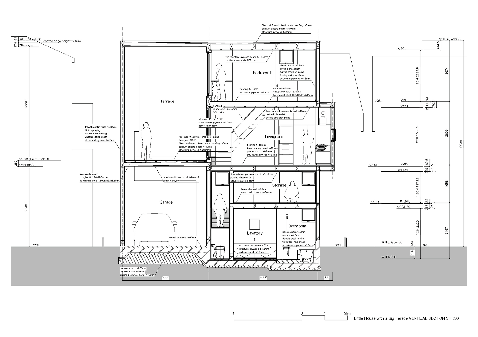 Bathroom section drawing - Section