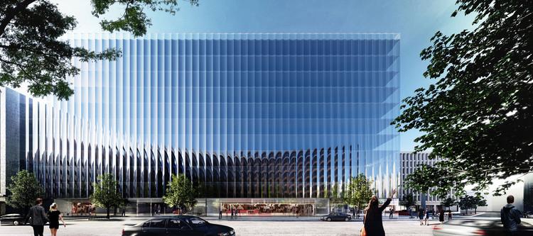 REX diseña edificio corporativo 'híper-transparente' en Washington DC, © REX