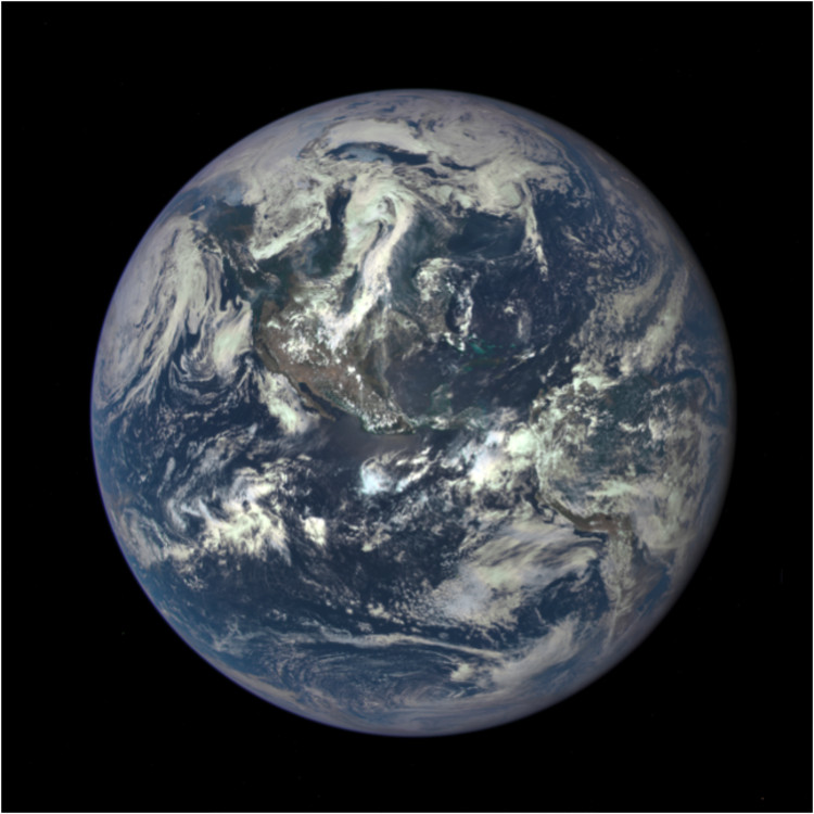 Call for Ideas: Closed Worlds Design Competition, Earth as seen on July 6, from a distance of almost one million miles by a NASA scientific camera on board the Deep Space Climate Observatory spacecraft. Credit: NASA.