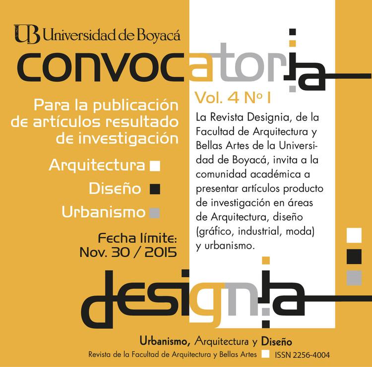 Call for Papers: Revista Designia , Revista Designia