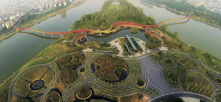 Yanweizhou Park (China) / Turenscape International. Imagen Cortesía de WAF