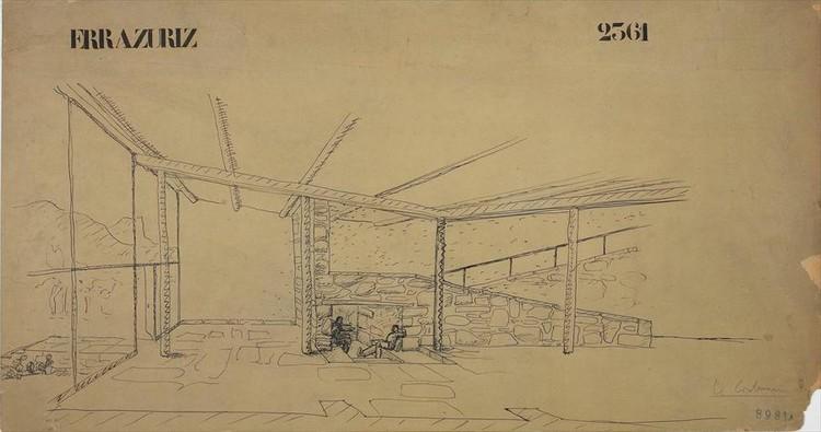 La Casa Errázuriz, en Zapallar, Chile de Le Corbusier, de 1930.. Image © Fondation Le Corbusier