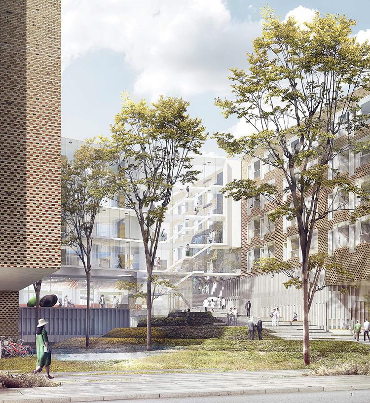 KHR Arkitekter, WHR Architects and Arup International Design Bispebjerg Somatic Hospital, Courtesy of KHR Arkitekter, WHR Architects, and Arup International Ltd.